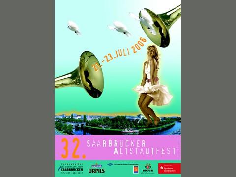 Plak_altstadt_2006_Frau-Trompete