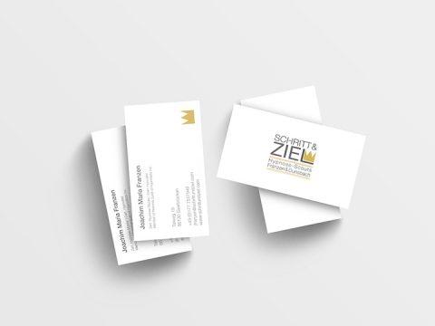 Visitenkarten mit neuem Logo